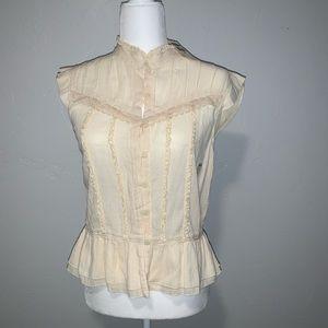 Old Navy cream button up shirt